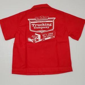 Kids Trucking Company bowling shirt
